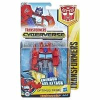 Трансформер - Оптимус прайм, TRANSFORMERS Кибервселенная, HASBRO E1884/E1901 - Minsktoys.by